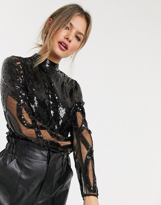 Raga Darkest Secrets sequin bodysuit