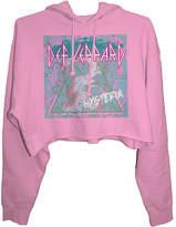 Goodie Two Sleeves Def Leppard Pink 'Hysteria' Crop Hoodie - Juniors