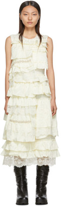 MONCLER GENIUS 4 Moncler Simone Rocha Off-White Ruffle Dress