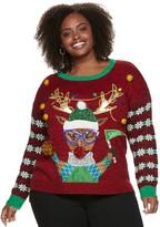 Us Sweaters Plus Size US Sweaters Crewneck Christmas Animal Sweater