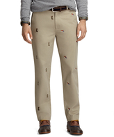Brooks Brothers Clark Fit Four-Panel Fishing Embroidered Vintage Chinos