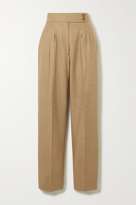 Burberry Wool-blend Twill Straight-leg Pants - Beige
