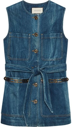 Gucci GG buttons denim vest