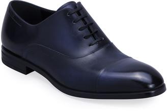 Bally Men's Lizzar Calfskin Cap-Toe Oxfords