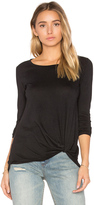 Bobi Light Weight Jersey Twist Front Long Sleeve Tee