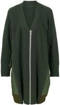 Sacai oversized knitted jacket