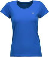 Lucas Hugh Mesh-paneled stretch-jersey T-shirt