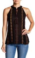 Romeo & Juliet Couture Embroidered Tassel Tank