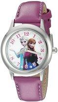 Disney Infinity Kids' W002503 Frozen Elsa & Anna Analog Display Analog Quartz Purple Watch