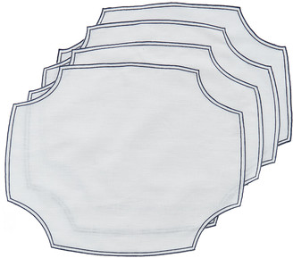 La Gallina Matta Set-Of-Four Embroidered Linen Placemats