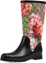 Gucci Prato GG Blooms Rain Boot, Multi/Pink