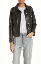 Frame Women's Cropped Leather Jacket