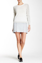 Rebecca Taylor Genuine Leather Perforated Skirt