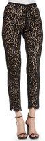 Michael Kors Floral-Lace Skinny Pants
