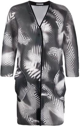 Stefano Mortari Abstract-Print Single Breasted Coat