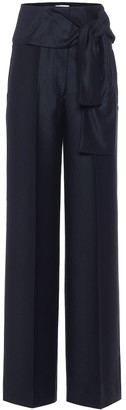 Victoria Victoria Beckham High-rise wide-leg wool pants
