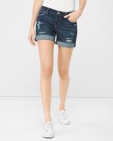 White House Black Market 5-inch Destructed Girlfriend Jean Shorts