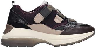 Lola Cruz Sneakers In Bordeaux Tech/synthetic