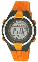 Ravel LCD Digital Water Resistant Sports Boy's Digital Watch with Black Dial Digital Display and Orange Plastic Strap RDB-18