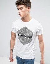 Solid T-Shirt With Street Apparel Print
