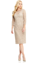 Maggy London Beaded Neck Lace Overlay Dress
