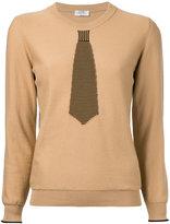 Sonia Rykiel striped tie jumper - women - Cotton/Polyamide - S