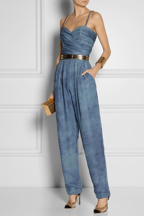 Balmain Tie-dyed silk-chiffon jumpsuit
