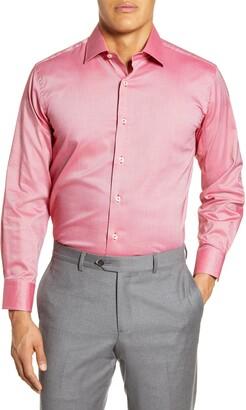Lorenzo Uomo Trim Fit Stretch Solid Dress Shirt