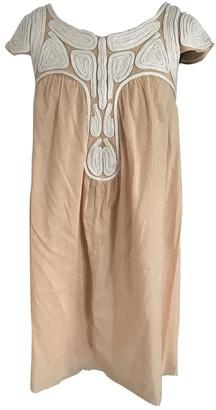 MANGO Orange Cotton Dress for Women