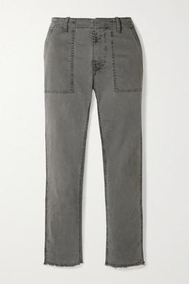 Nili Lotan Jenna Stretch-cotton Twill Straight-leg Pants - Gray
