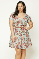 Forever 21 FOREVER 21+ Plus Size Floral Print Dress