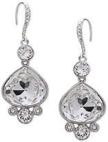 Nina Silver-Tone Swarovski Crystal Pear Drop Earrings