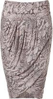 By Malene Birger Printed Snakeskin Skirt