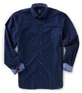 Visconti Mini-Paisley Jacquard Long-Sleeve Woven Shirt