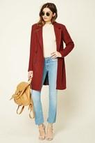 Forever 21 FOREVER 21+ Longline Wool-Blend Coat