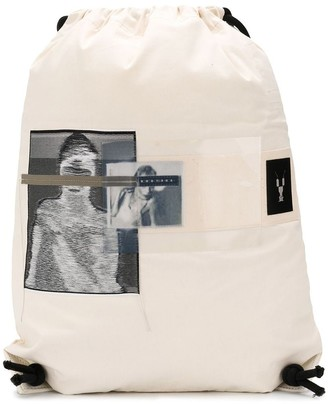 Rick Owens photographic print backpack