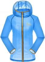 RAINSTAR Women's Lightweight Anti-UV Softshell Jacket Quick Dry Thin Hooded Skin Coat US S (Asian Tag XL)