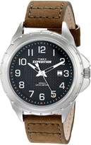 Timex Men's Expedition T49945 Leather Analog Quartz Watch