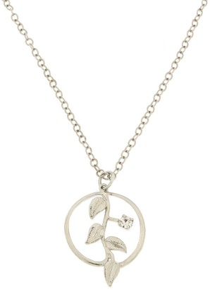 Rosaspina Firenze Foliage Silver Necklace