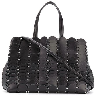 Paco Rabanne Pacoio disc-embellished tote