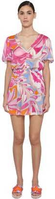 Emilio Pucci Printed Woven Mini Dress
