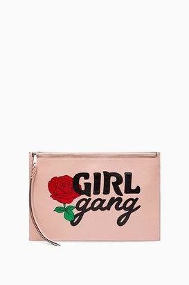 Rebecca Minkoff Large Zip Pouch - Girl Gang
