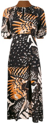 Temperley London bird print dress