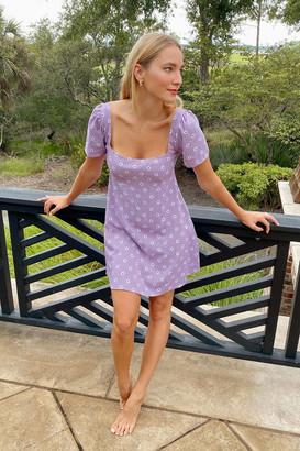 Motel Thalia Square Neck Mini Dress