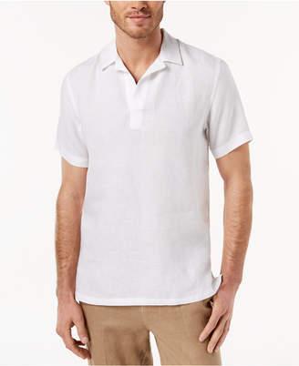 Tasso Elba Men Island Popover Camp Collar Linen Shirt