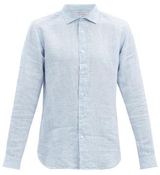 Orlebar Brown Giles Linen Shirt - Mens - Blue