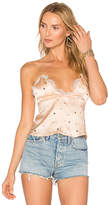 For Love & Lemons Twinkle Lace Cami in Blush. - size M (also in S,XS)