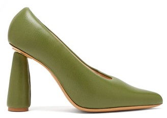 Jacquemus Padded-leather Pumps - Womens - Green