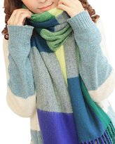 Spring fever Vintage Style Plaid Extra Large Warm Wool Feel Women Wrap Scarf