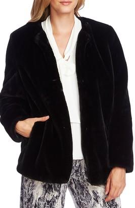 Vince Camuto Open Front Faux Fur Jacket
